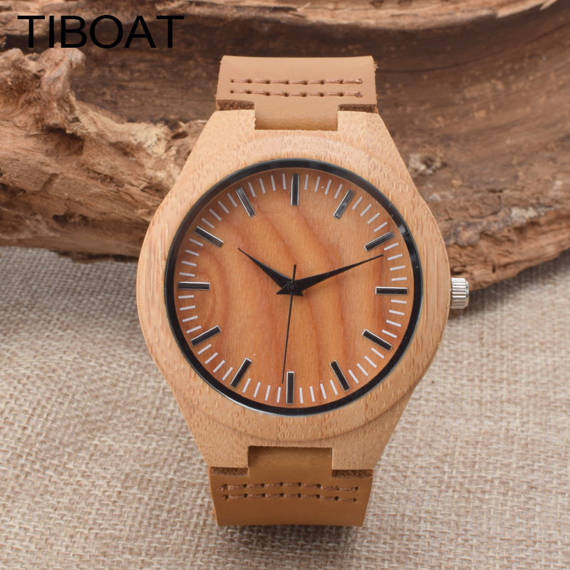 TIBOAT Reloj Hombre 2017 Top Brand Luxury Fashion Bamboo Wood Sport Mens Watches Military Quartz Watch Clock Relogio Masculino bewell 2017 hot sale fashion wood watch men mens watches top brand luxury reloj hombre big horloges mannen with gift box 100ag