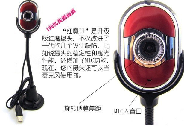 hot sale brand new Computer camera reds long tube vertical video cameras to avoid flooding camera