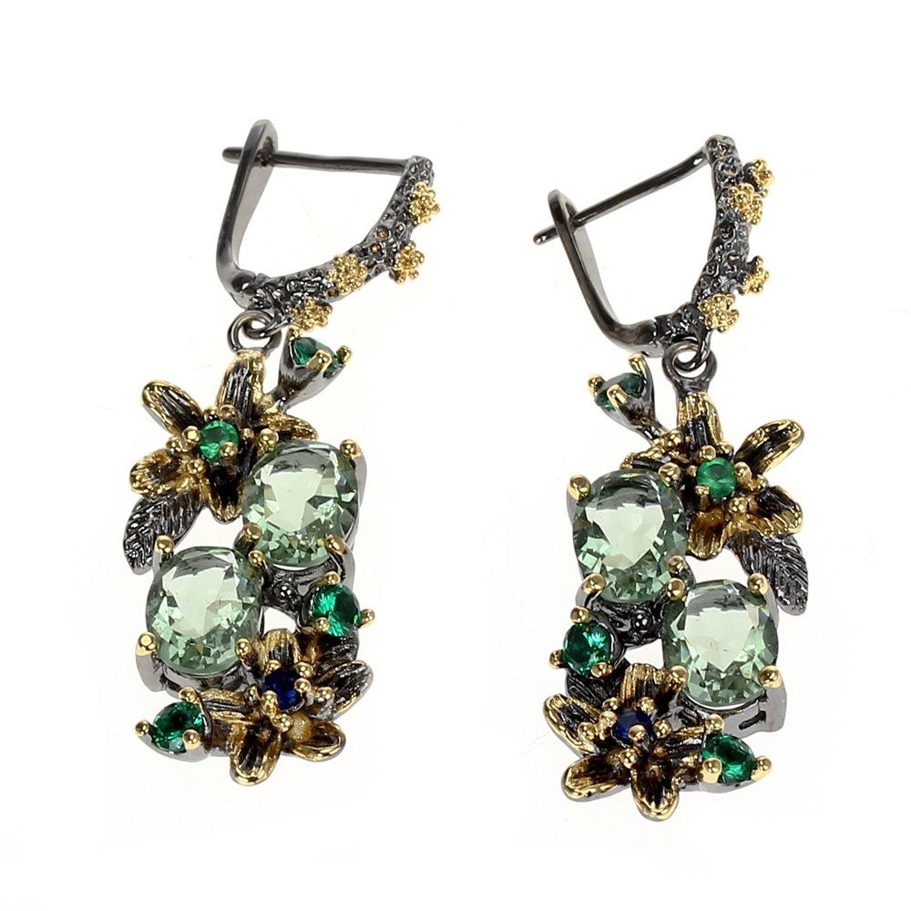 WE3874 vintage luxury zirconia  drop earrings women (4)