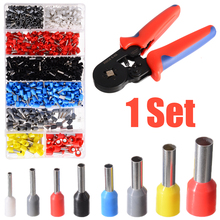 1200pcs Cable Crimp Wire Pliers with Wire Crimp Connection Terminal Hand Crimper Pliers Tool Kit цены