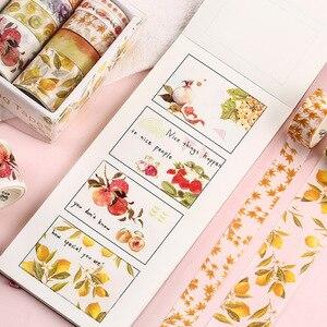 Image 3 - 10 teile/satz Dekorative Kawaii Washi Band Set Meer und Wald Serie Japanischen Papier Aufkleber Japanischen Schreibwaren Scrapbooking Liefern