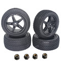 4pcs/lot Front Rear RC Tires Wheel Rims 12mm Hex For 1/10 Off Road Buggy Car Fit HSP XSTR 94107 Redcat Tornado EPX PRO