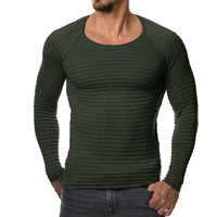 2017 New Men Knitted Sweater Autumn Winter Fashion Brand Clothing Men S Striped Sweaters Solid Color