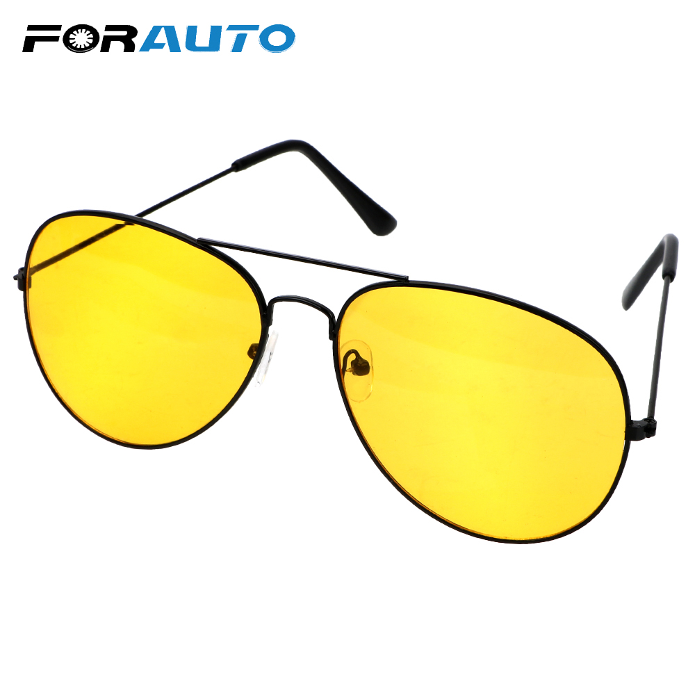 FORAUTO Anti-glare Sunglasses Car Driver Night Vision Goggles Auto Accessories Driving Glasses  Copper Alloy
