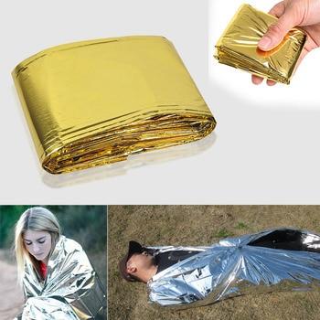 Etmakit 160x210 cm de emergencia de aluminio manta Mylar rescate térmica SIDA retener el calor del cuerpo para acampar NK-de compras