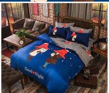 Jurassic dinosaurs Owl Panda Totoro Cat Cartoon 3/4pcs bedding set duvet cover bed sheet pillowcase linen bedclothes