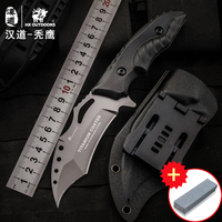 HX OUTDOORS Vultures Outdoor High Hardness Tactical Small Straight Knife Field Self Defense Survival Knife Portable