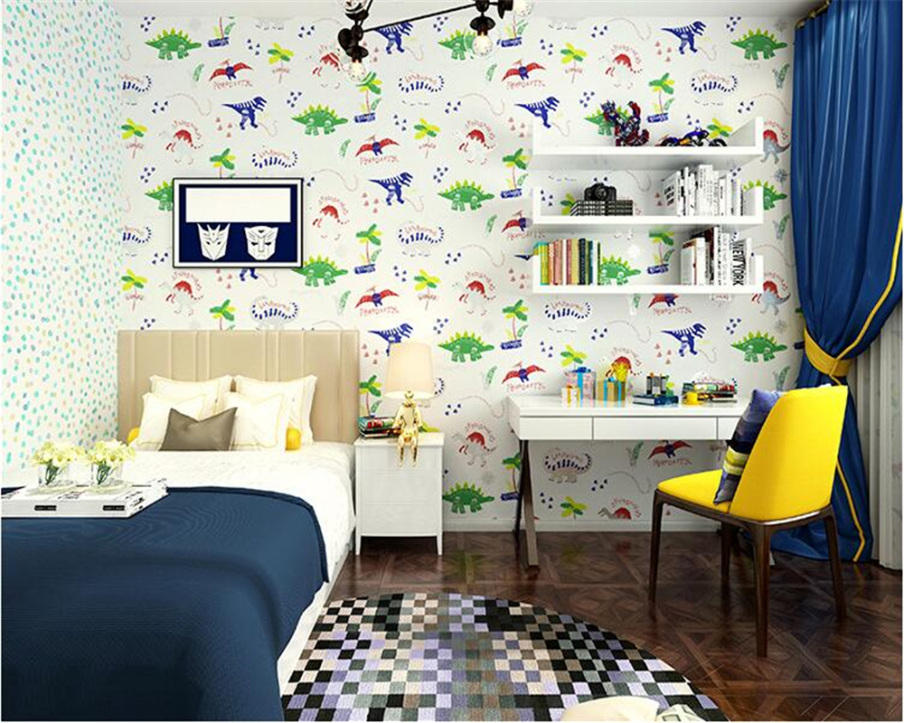 beibehang Children's room moving cute romantic 3d wallpaper boys and girls children's paradise kindergarten AB with wall paper the trouble with paradise
