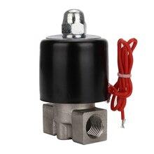 DN08 AC220V 110V DC24V 12V 1/4 compact good price stainless steel solenoid valve for air, water, oil, gas solenoid water valve air valve 2w160 15 2w200 20 2w250 25 2w400 2w025 08 2w500 two position all copper ac220v dc24v 12v