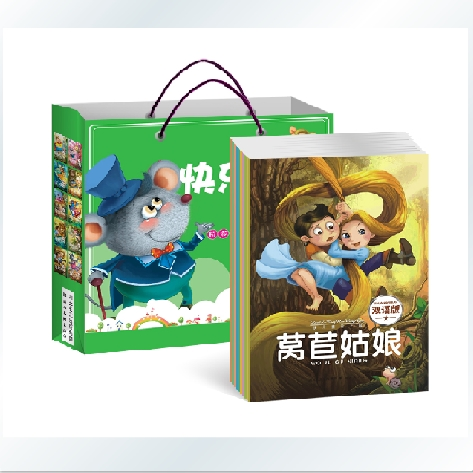 10 Livros Chinês Inglês Bilíngue Livro Infantil Picture Learning and Education the City Mouse and the Country Mouse etc