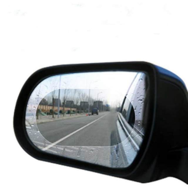 2PCS Car Rearview Mirror Protective Film Anti Fog Window Clear Rainproof Rear View Mirror Protective Soft Film Auto Accessories 4