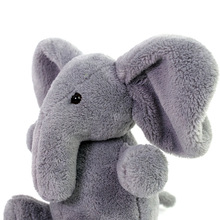 Baby Animated Flappy Grey The Elephant Plush Regular Stuffed Collectible Soft Doll Toy