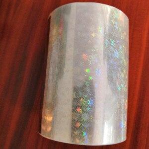 Image 5 - Bộ 2 cuộn Trong Suốt toàn Phương Lá Nóng dập giấy báo nóng trên giấy hoặc nhựa 8cm x 120m nhiệt dập phim