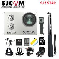 128 г TF SJCAM SJ7 Star Wi Fi 4 К 30 P 2' Сенсорный экран удаленного Действие шлем спорта Камера Водонепроницаемый Ambarella a12 чип видеокамера
