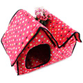 The New Pet Villa House Double Zipper Wash Townhomes with Litter Dog House Cat House High Quality Free Shipping