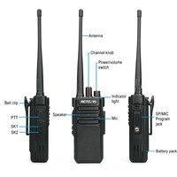 vhf uhf 10W מכשיר הקשר RETEVIS RT29 IP67 Waterproof (אופציונלי) UHF (או VHF) VOX מקצועי ארוך טווח דו סטרי משדר רדיו (4)