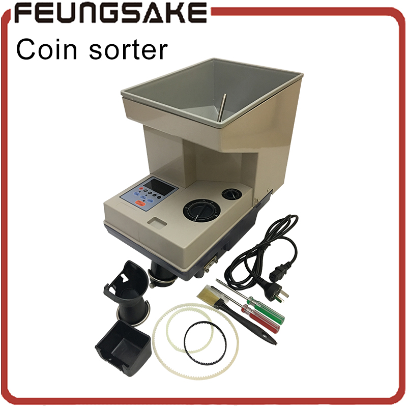 Trieur de pièces de monnaie électronique SE-400 machine de comptage de pièces de monnaie pour tous les pays personnaliser, trier avec LED, France trieur de pièces de monnaie suisse