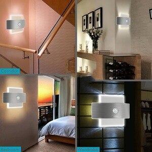 Image 4 - Luz noturna recarregável usb, com sensor de movimento, 14 leds, sem fio, lâmpada de parede, para crianças, cabeceira