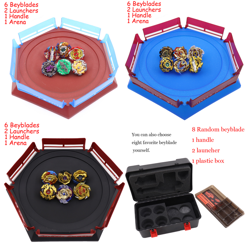 Toupie Kai Watch Land estadio de Bayblade de fusión metálica 4D Spinning Top Bey Blade cuchillas juguetes con lanzador de regalos