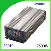 2500W pure sine wave solar power inverter DC 12V 24V to AC 110V 220V digital