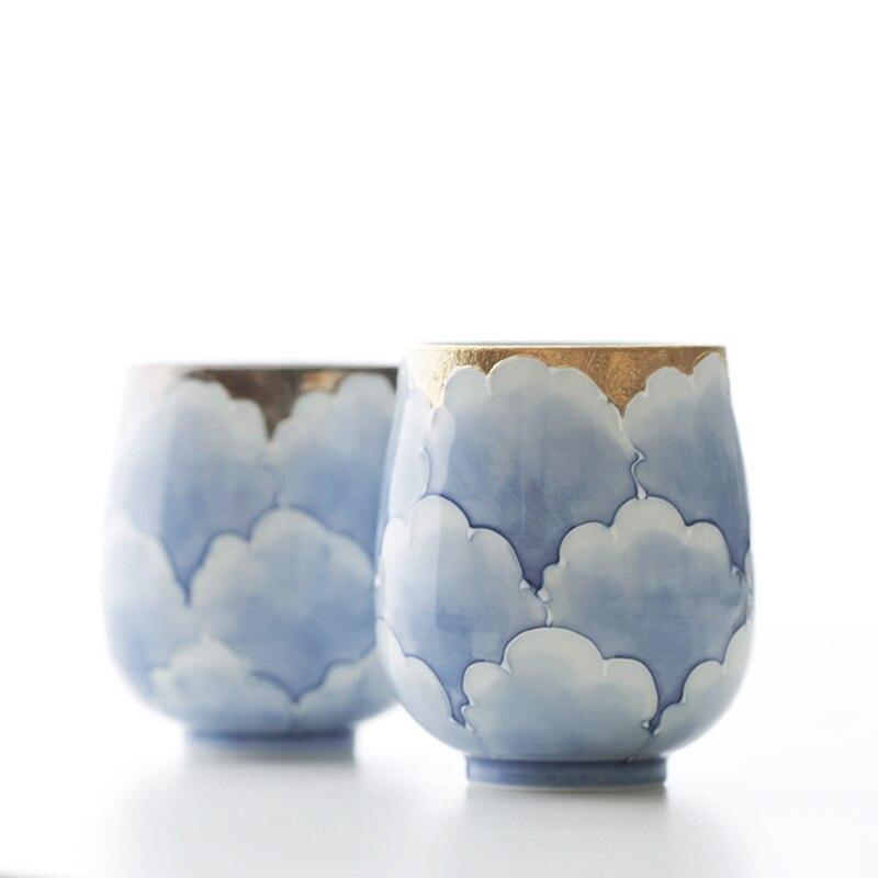 Сделано в Японии Профессиональный Классический пион ручной работы под остеклением Высокое качество Экологичные чайные чашки и кружки золо...