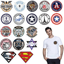 tiger superman small applique badge iron on heat patches for clothing hat transfert thermocollants t-shirt parche termoadhesivos