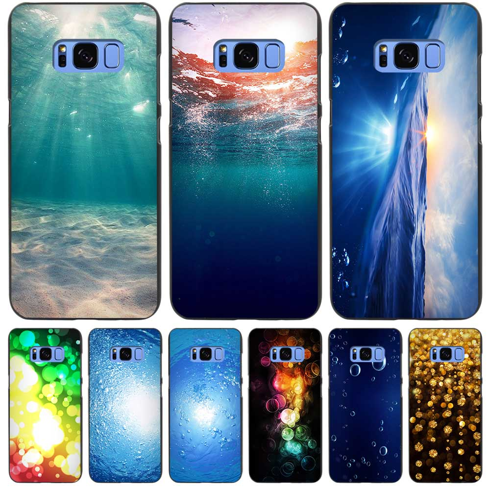 Dreamy Underwater Bubbles Sun Light Black Case Cover Shell Coque for Samsung Galaxy S3 S4 S5 Mini S6 S7 S8 Edge Plus S8+