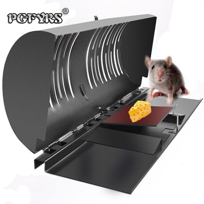 2019 nouveau piège à Rat à boucle latérale cage piège à animaux piège à rat automatique peinture de cuisson pour capteur de bestiole en métal souris tueur domestique