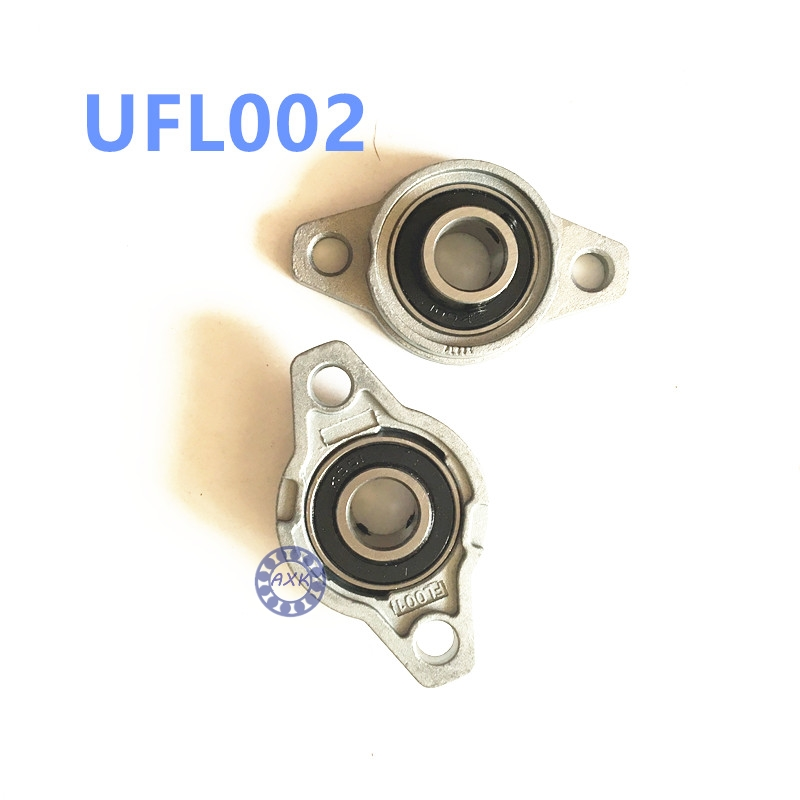 Free shipping 2pcs UFL002 pillow block ball bearing 15mm Zinc Alloy Miniature Bearings with sleeve free shipping 2pcs ufl000 pillow block ball bearing 10mm zinc alloy miniature bearings with sleeve