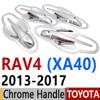 For Toyota RAV4 2013-2017 Chrome Door Handle Covers Trim Set of 4 Door RAV 4 XA40 Hybrid 2014 2015 2016 Accessories Car Styling