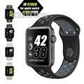 42mm 38mm para apple watch série 2 banda esporte preto cinza silicone para apple watch band