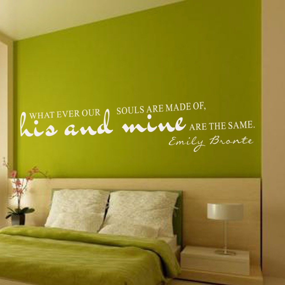 Whatever our souls are made of... Vinyl Wall Lettering Calligraphy ...
