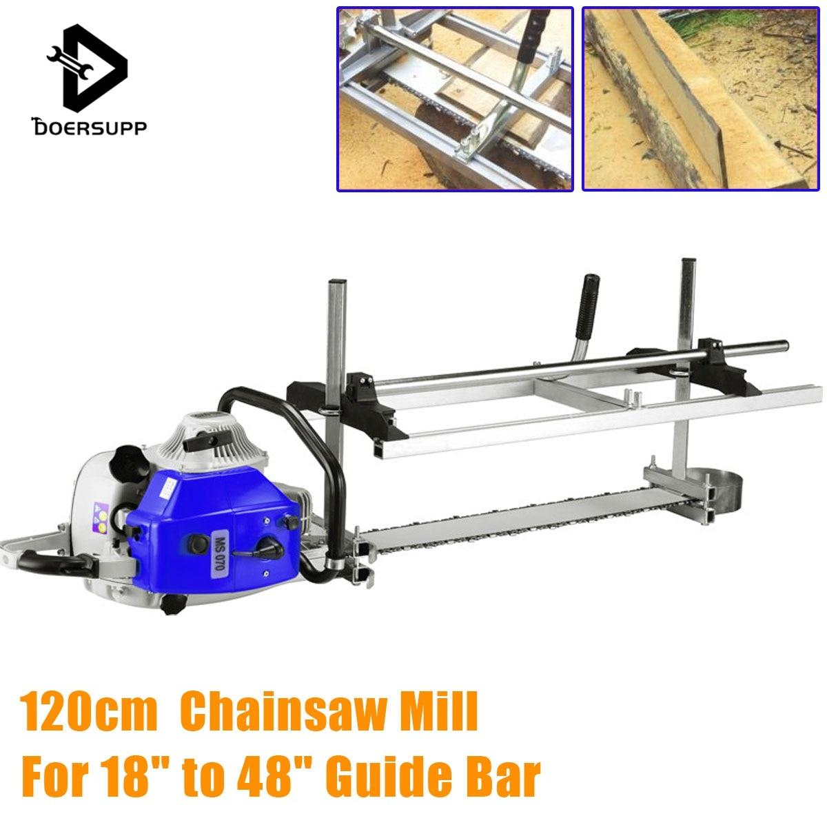 Doersupp 120 cm Portatile Chainsaw Mill Planking Fresatura Da 14