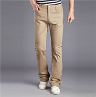 2016 New Arrival Fashion Men S Flared Trousers Men Khaki Pants Cotton Casual Solid Men Jogger