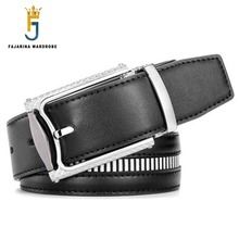 FAJARINA Quality Fashion Cowhide Black Genuine Leather Belts for font b Men b font Leisure Strap