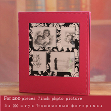 Leather photo album in this 5r 7 large capacity baby lovers photo album child memorial цена и фото
