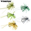 1 Pcs 3.5g 5g 7g 1/4oz-1/8oz Lead Bass Jigs Rubber Jig Head Hook Offset Trout Hooks Fishing Lure