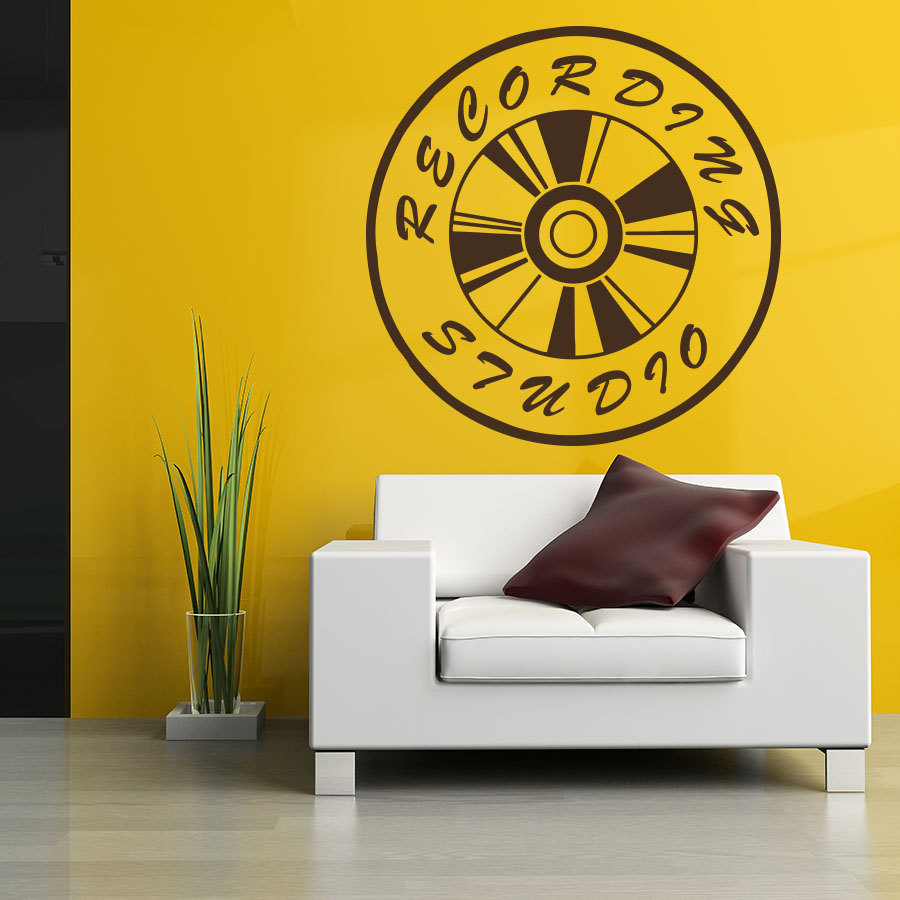Music Studio Vinyl Art Mural Wall Decal Quotes Recording Studio Sign ...