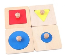 New Wooden Baby Montessori Shapes matching puzzles Learning Educational Preschool Training Gifts
