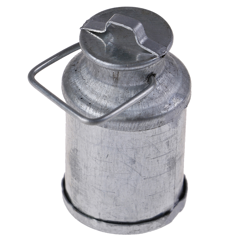 2019 New <font><b>1</b></font>:<font><b>12</b></font> <font><b>Doll</b></font> <font><b>House</b></font> Miniature <font><b>Accessories</b></font> Farm Metal Milk Can Kettle Pot image