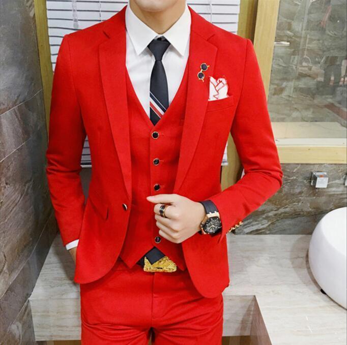 6 couleurs bleu Royal rouge noir gris simple Brest Costume de mariage 4xl Business Forma hommes costumes de mariage marié Costume Homme Slim Fit - 2