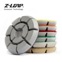 Z-LEAP 7 sztuk/zestaw diamentowe polerki do podłogi suche mokre wykorzystanie szlifierka do marmuru płyty kamień granitu ścierne narzędzie 3