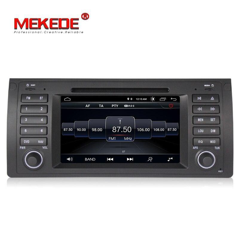 Nouveauté! lecteur dvd gps de voiture Mekede android 8.1 pour BMW E53 X5 E39 avec wifi BT radio gps navigation y compris canbus