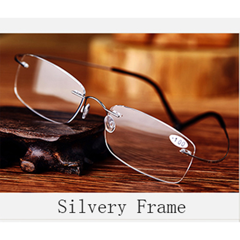 Pure Titanium Frame Magnetic Reading Glasses Men Women Diopter - Apparel Accessories - Photo 6