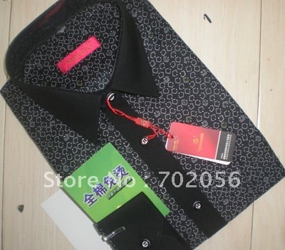 Dark Cotton Men's Dress Shirts,Business shirts 5pcs/lot #2328