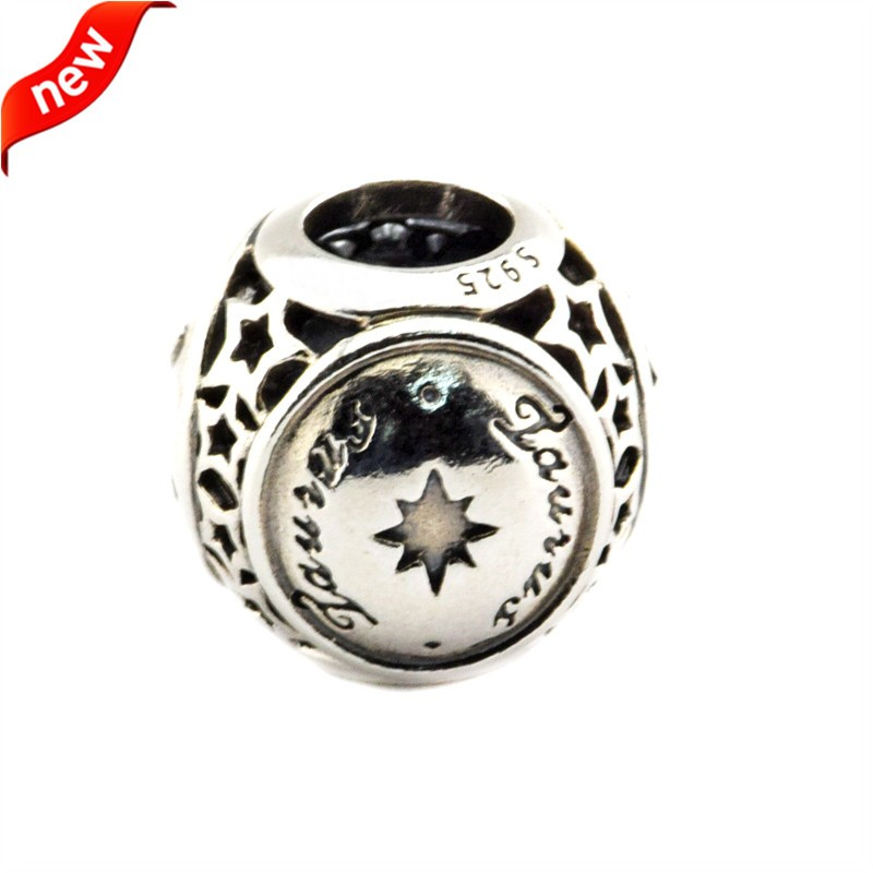 Fits Pandora Bracelet Charms Silver 925 Original Beads for Jewelry Making Taurus Star Sign Silver Charms Beads for Women Gift