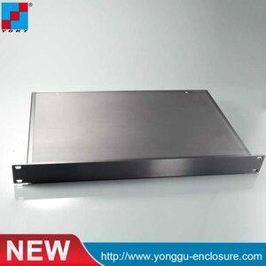 Шасси веб-сервер 19 дюймов стойка крепление алюминиевый корпус 2U 19 дюймов корпус Электроника 482*89*250 мм