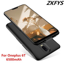 ZKFYS 6500mAh Portable Battery Charger Case Power Bank Charging Cover For Oneplus 6T Ultra Thin Fast