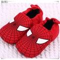 015 Nueva Primavera y Otoño Hombre Araña Bebé Recién Nacido Niños Zapatos de Prewalker Del Bebé Zapatillas Niños Zapatos Antideslizantes Primeros Caminante 303