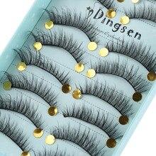 10 Pairs Soft Faux Mink Hair False Eyelashes Wispy Fluffy Multilayer Lashes Extension Handmade 3D Cruelty free Long Eyelashes